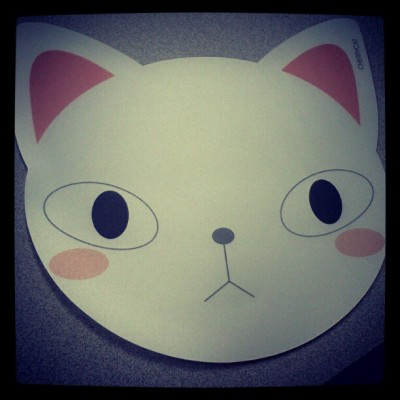 Just got in a bunch of new stationery items, including these adorable kitty mousepads! I will try my best to have some of the items up this weekend. Everything is so adorable, I want to keep it all for myself! :D