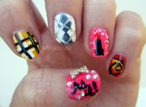 07.13.12 Inspired by a Movie My entry for Day 23 of Nail Challenge- Inspired by a movie. I picked Clueless!!
