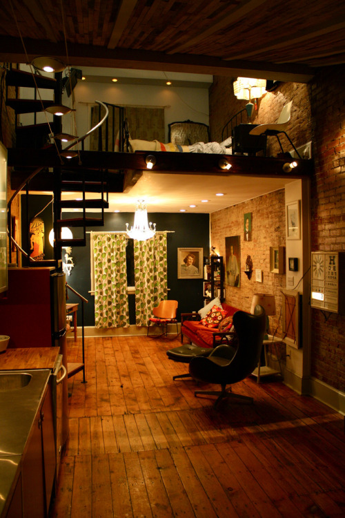 Small space living. Nice loft   found here