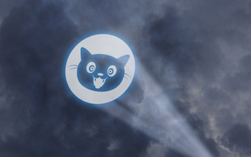 letmypeopleshow:  The Cat Also Rises:  What's that in the sky? Catsignal for web freedom to occupy firmament where Internet Defense League meets newest Batman movie, The Dark Night Rises.