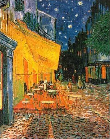 pagescorner:  Create A Story #3 (July 14)  (Vincent Van Gogh, Cafe Terrace at Night)