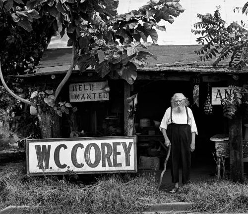 Roger Minick (b. July 13, 1944) - American photographer… Above: W.C. Corey, pre-1975