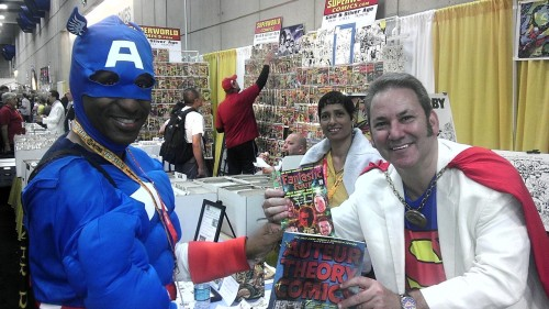 Captain America stops by our SDCC table…