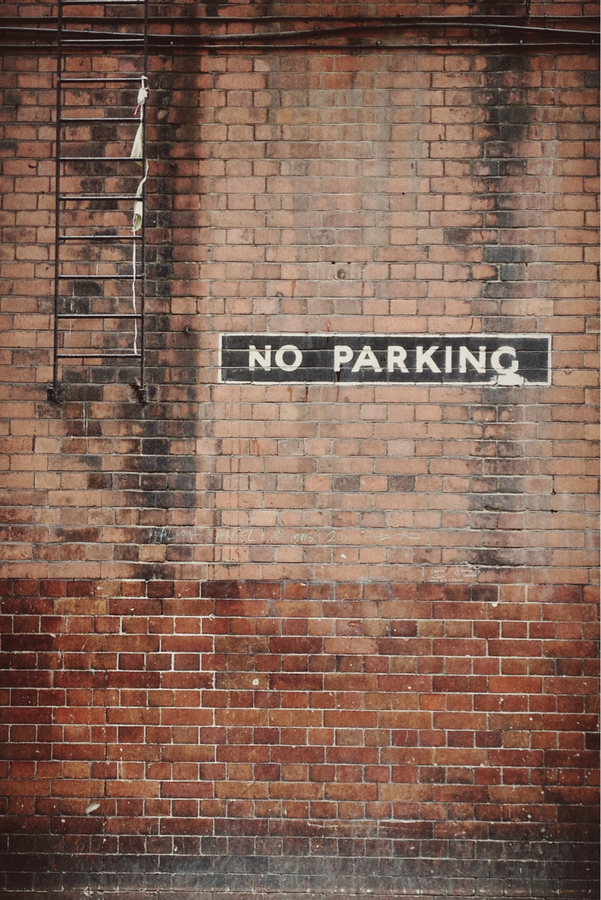 """No Parking"" (rear entrance of the Apollo Theatre, Archer Street)"