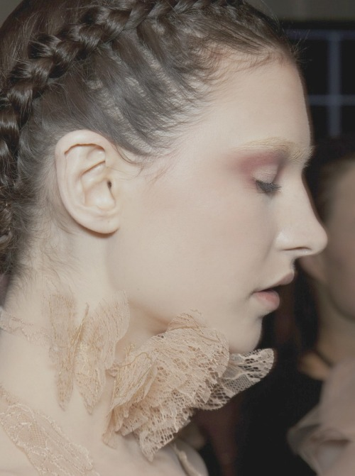 Backstage at Valentino couture spring/summer 2011