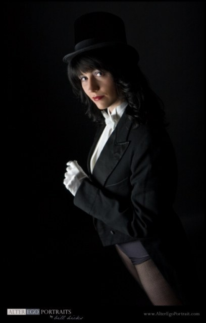 Myself as Zatanna Zatara, the Mistress of Magic, the Princess of Prestidigitation! Submitted by Syagria