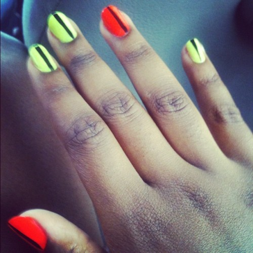My colors though and my nails grew :) (Taken with Instagram)