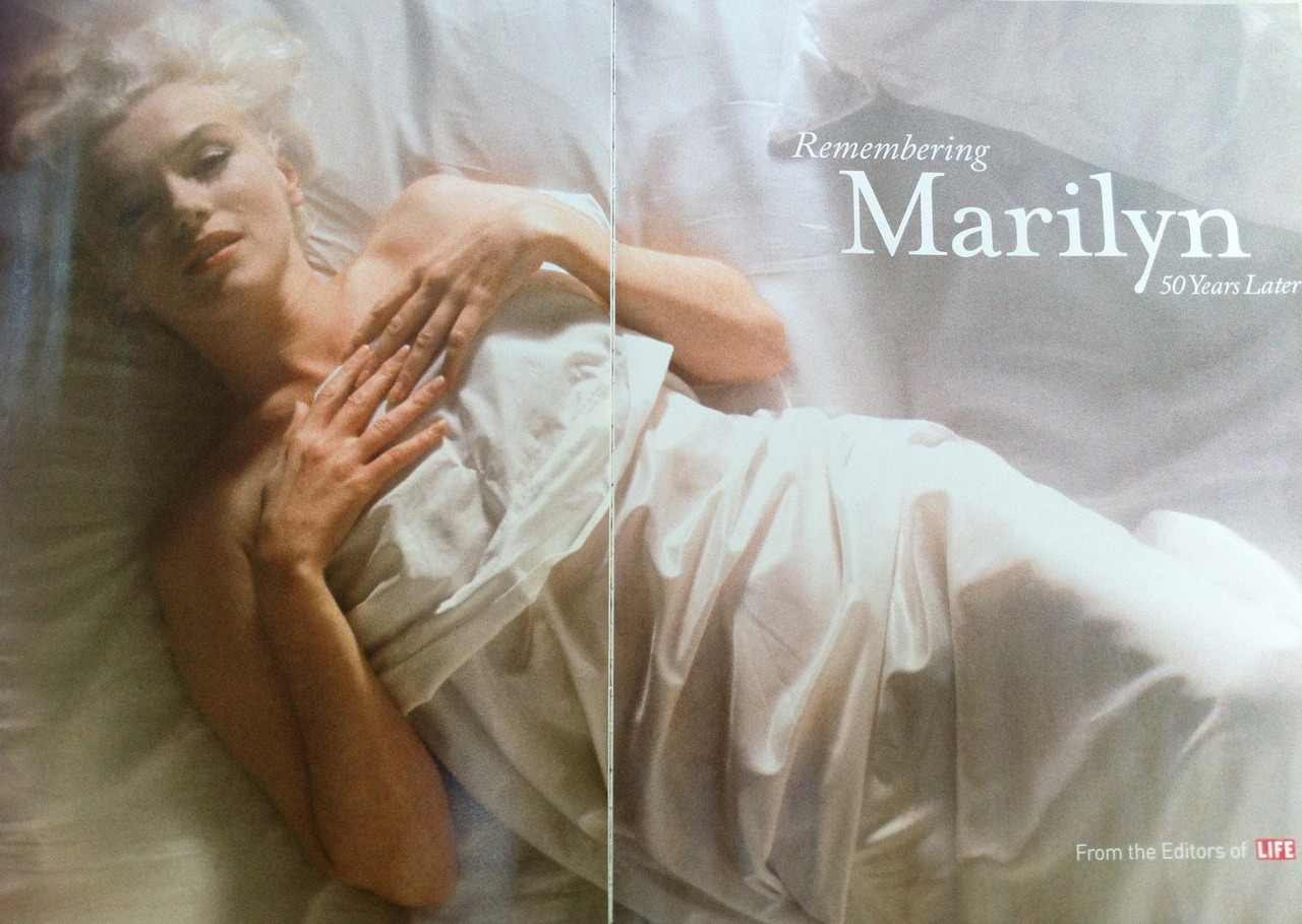 Douglas Kirkland's iconic image of Marilyn Monroe from With Marilyn: An Evening/1961 is featured in a LIFE magazine special. A commemoration to the 50th year of her passing.