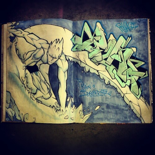 BlaQ IceMan. #blaq88 #blackbook #iceman #xmen #blaqbook (Taken with Instagram)