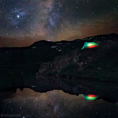 taylor pass lake milky way tent reflection by tmo-photo on Flickr.