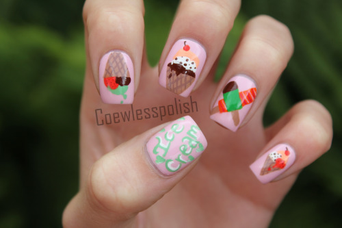 Ice creams (by NailsbyCoewless)
