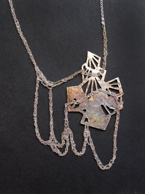 etsy:  Crystal cluster shadow dance necklace by PetiteMortShop on Etsy.