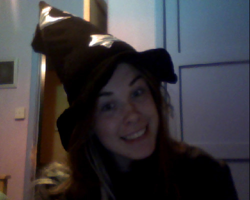I would just like to draw your attention to this fabulous hat I've got on.