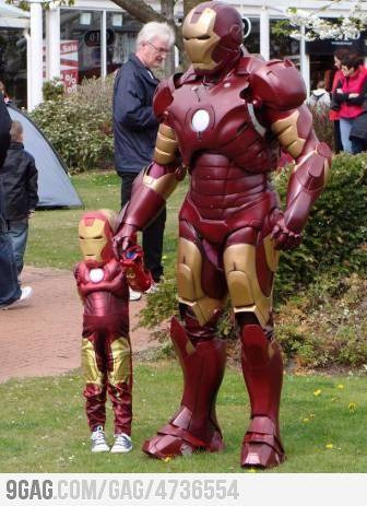 iron man and iron kid