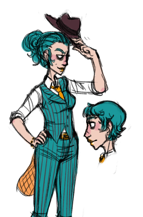 kawaiisharkarts:  I DECIDED THAT A FEM!PERRY WAS NECESSARY IT PROBABLY WASN'T  I REALLY ENJOY THIS. A LOT. especially shorthaired!fem!perry but I like chicks with short hair like that so oops