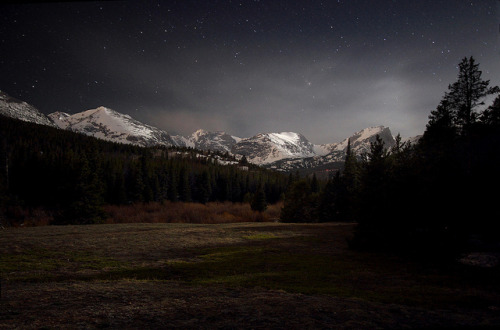 spacettf:  Rocky Mountain Moonlight by gainesp2003 on Flickr.