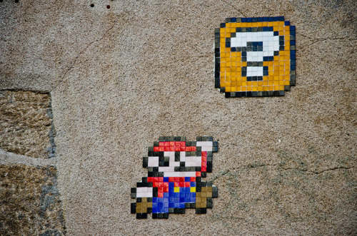 Mario on the wall by - yull - on Flickr.