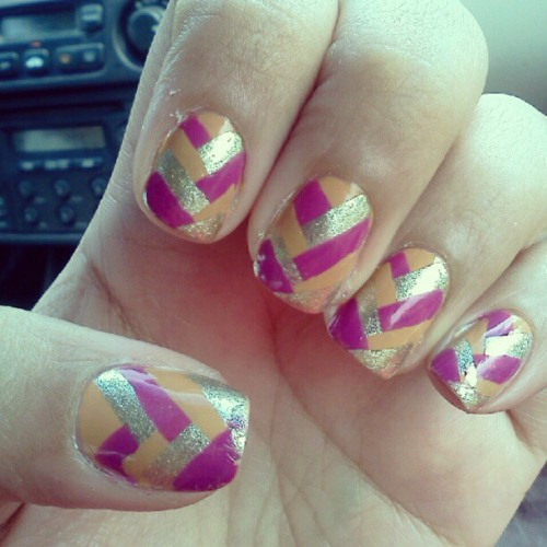 Fish braid. #fingertipfriday #nailartaddict #nailart #nails #manicure #fishbraid #design #Revlon #Barielle #nailpolish #fashion #trend  (Taken with Instagram)