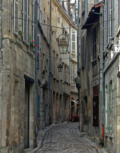 Périgueux: a street in the old part of town 2 by mistca on Flickr.