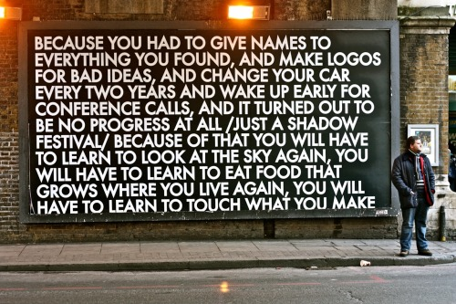 myedol:  Street Poetry by Robert Montgomery