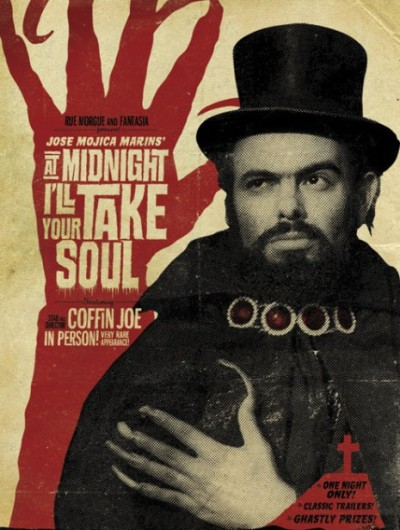"Coffin Joe, ""At Midnight I'll Take Your Soul"" (original title: À Meia Noite Levarei Sua Alma) Official Movie Poster, 1963"
