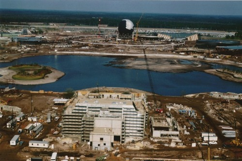 potterheadschamber:  Epcot Center construction progress - 1980