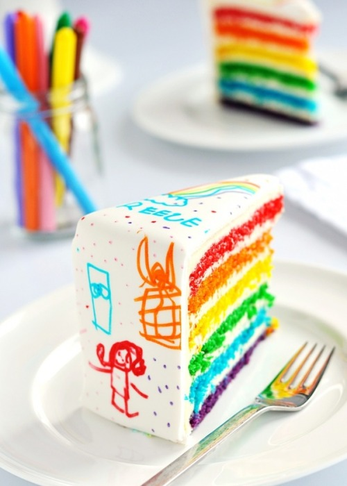 clear-bohemian-waters:  kiwibay:  rainbow cake :D  want more boho? click here ❂