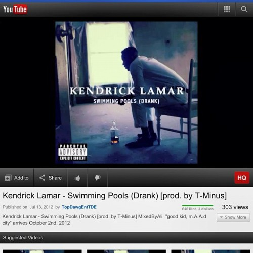 good song for today 🎧 😜 #kendricklamar #music   (Taken with Instagram)