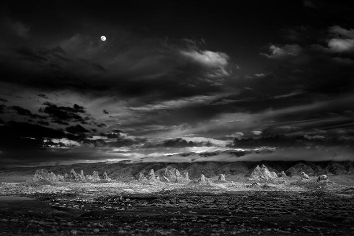 Mitch Dobrowner - Moonrise, Trona Pinnacles, California (2009)