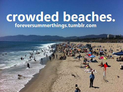 crowded beaches.