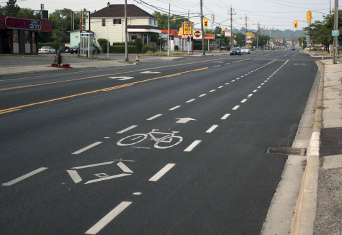 Checked out the Hartzel Road bike lane today! http://bicyclestc.blogspot.ca/2012/07/when-bike-lanes-stopped-part-3.html
