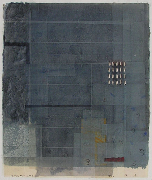 takahikohayashi:  林孝彦 HAYASHI Takahiko  D-5.Nov.2001 painting,collage
