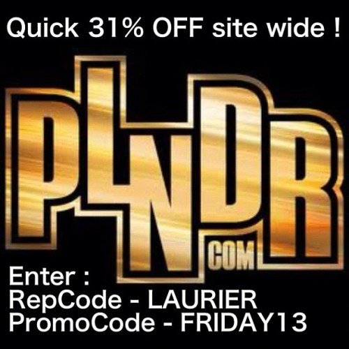 Happy Friday the 13th!! RepCode LAURIER PromoCode FRIDAY13 —> brought to you by #karmaloopplndrcodes.com #fridaythethirteenth #plndr #teamplndr #teamkarmaloop #karmaloop #sneakerhead #onlineshopping  (Taken with Instagram)