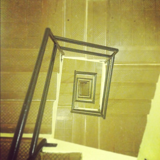A long way down. #stairs #dc #apartment #building #spiral #picoftheday #iphoneonly  (Taken with Instagram)