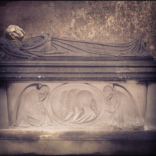 Sleeping beauty. #graves #crypt #cemetery #tomb #stone #death #beautiful #coffin #memories #kensal #green #heaven #god #gothic  (Taken with Instagram)