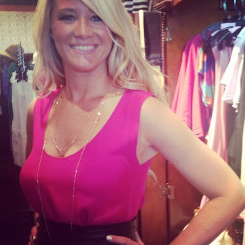 Gena in #cerra #necklace #bellestyle @otisandmaclain #stl #townandcountry #events #fashion #runway #designer #stltweets  (Taken with Instagram at Klutch)