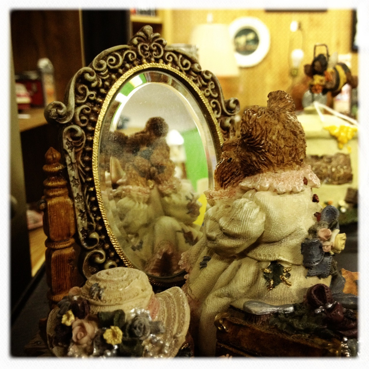 Weird things seen in antique stores . . Jane Lens, Ina's 1935 Film, No Flash, Taken with Hipstamatic