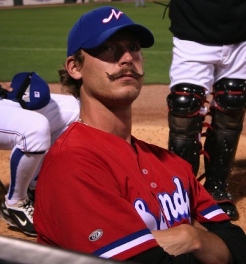 Nice Mustache dude…. Do you  think that will help you win any games?