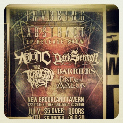 July 24th, my band's EP release show. Help us spread the word. Hail. \m/ (Taken with Instagram)