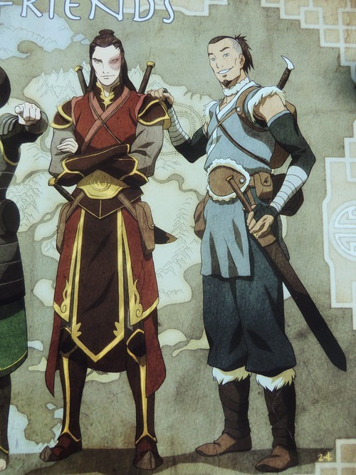 piratekorra:  Credit to the original poster of this close-up. Scanning left to right I first saw the perfect older Kataang couple, and THEN I saw the hottest two pieces of tail in Avatar history and my ovaries proceeded to explode. Sokka and Zuko are wearing quite a bit of clothing which is okay cuz I like undressing them with my eyes ;)