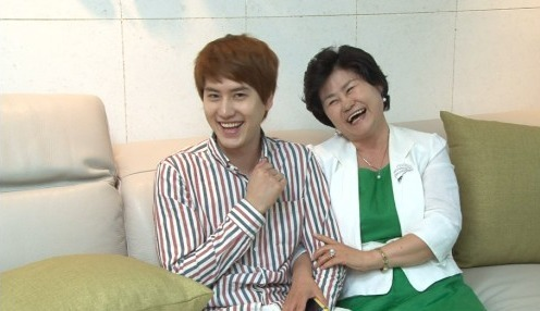 Kyuhyun and his mom