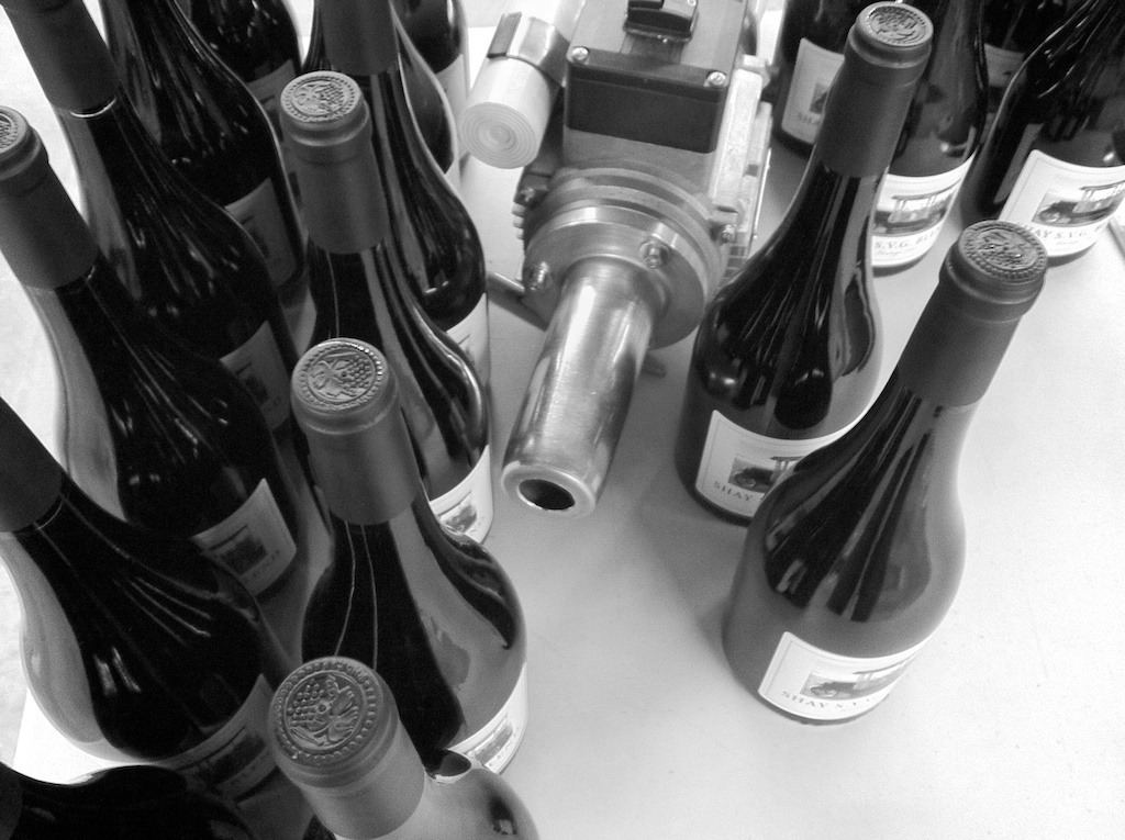 {Circa 1962} Private label wines designed, labeled and capsuled today in our Drinkwell Creative Design Lab for a 50th Birthday. The birthday boy will be celebrating this weekend with a blowout bash on the family's ranch in Creston, California. Client Requests: Photo Focus, Vintage Truck Wine: 2009 Red Rhone Blend 65% Syrah, 15% Grenache & 20% Viognier