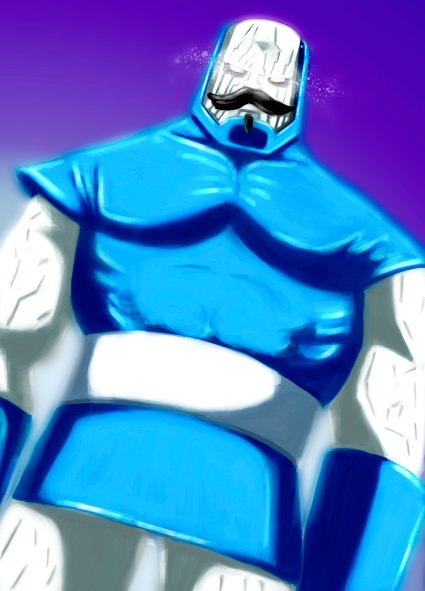 Why does Darkseid (Dark over-ruler of Apokolips) have a moustache and goatee? (shrug shoulders)    -http://murdockink.tumblr.com/   -http://murdockink.blogspot.com/   -http://moebocop.deviantart.com/   -http://twitter.com/mauricemurdock      Also Buy prints here:   -http://society6.com/mauricemurdock