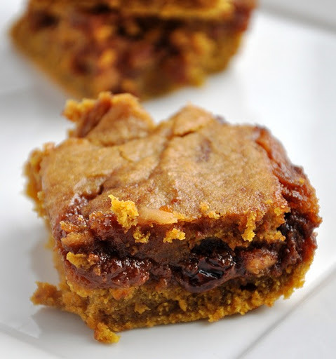 e-levated:  Caramel Pumpkin Blondies