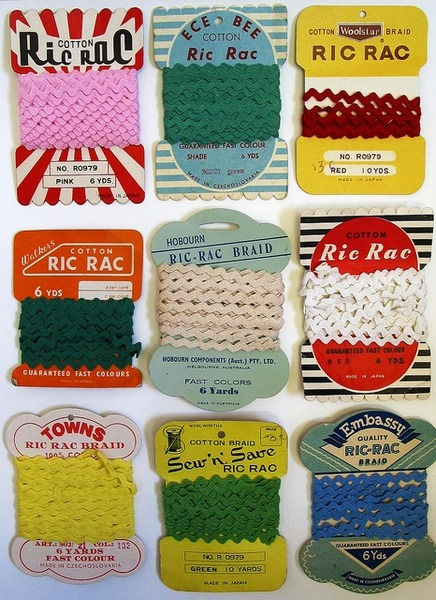 Vintage ric rac packaging, via Jeremy Pruitt.
