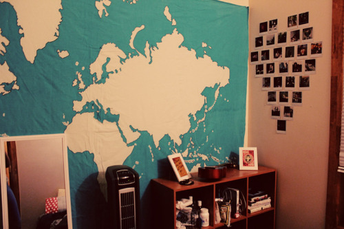 enchanted-dystopia:  My bedroom is tiny, but it's coming along nicely.