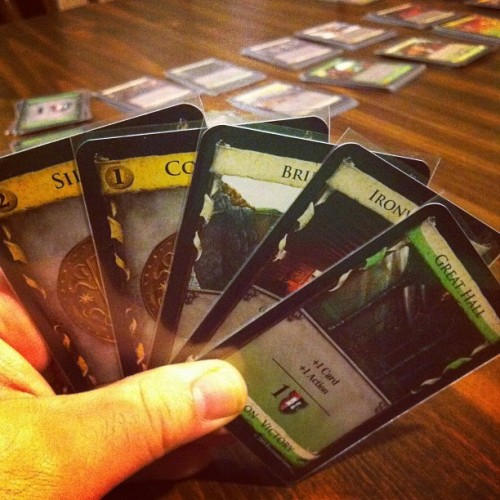 Dominion: Intrigue #boardgames #gamenight  (Taken with Instagram)