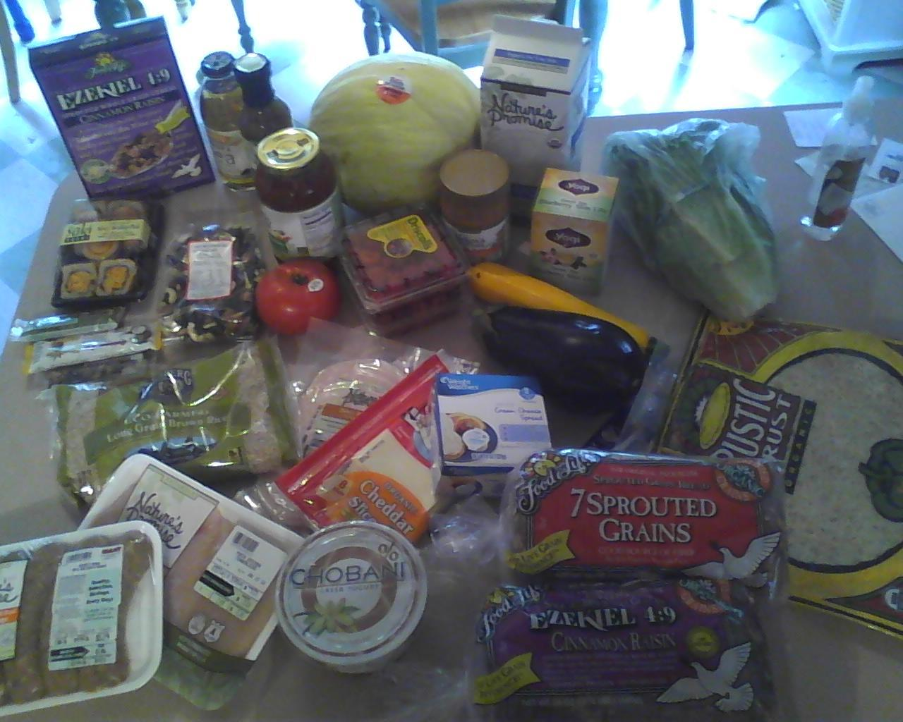 decided to splurge and buy almost all organic when I went grocery shopping today