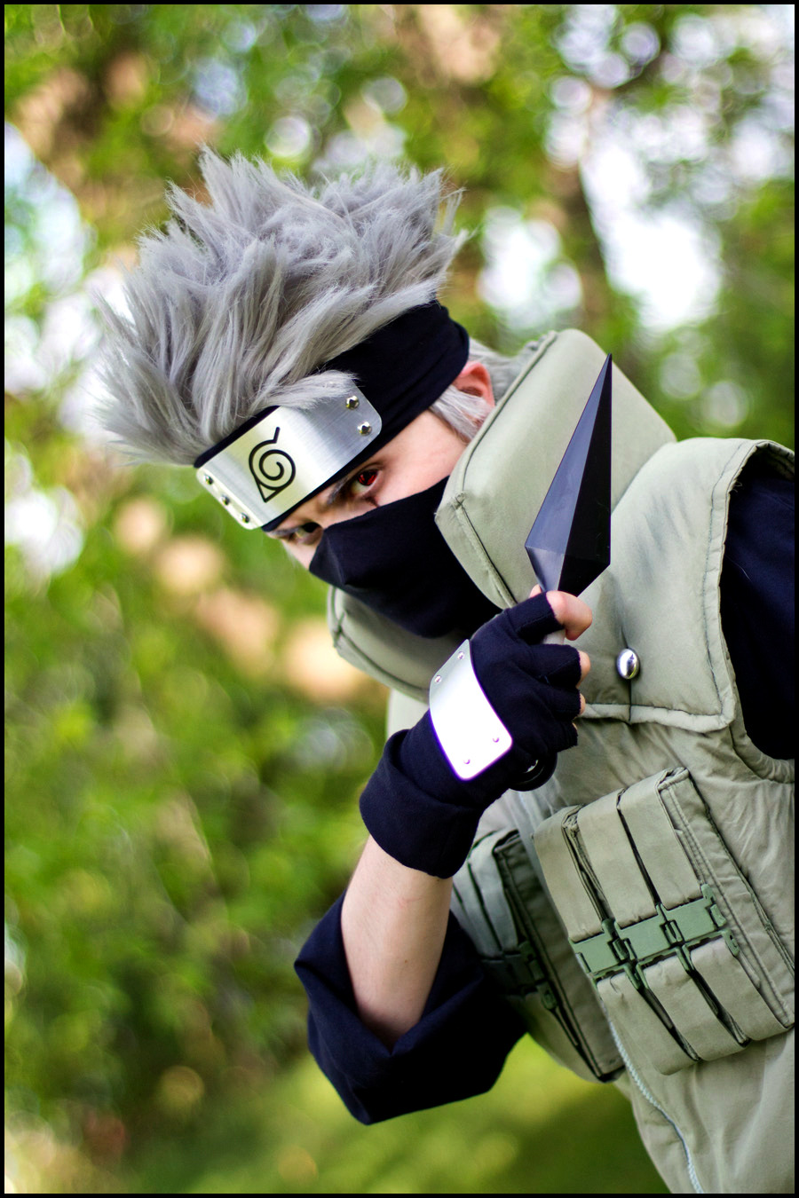 My Kakashi cosplay.  Cosplay all handmade.