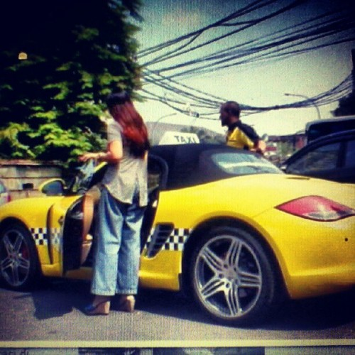 #indonesia #jakarta #car #sport #porsche #BoxsterS #taxi #MMcab #yellow #ig #igers #instagram #instaphoto #instagraph #great #expensivecost (Taken with Instagram)